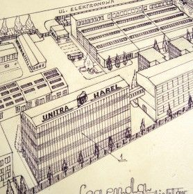 Ręcznie wykonany rzut na zakłady WAREL w latach 80.